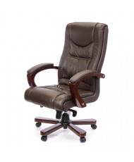 Купить недорого Деревянное кресло руководителя - Кресло АРТУР • CH MB коричневый в Украине