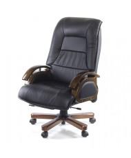 Купить недорого Деревянное кресло руководителя - Кресло Босс • EX RL чёрный в Украине