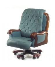 Купить недорого Кресло руководителя люкс - Кресло ЦЕЗАРЬ • EX RL циан в Украине