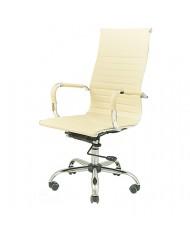Купить недорого Кресло руководителя с хромом - Кресло Кап • CH D-TILT бежевый в Украине