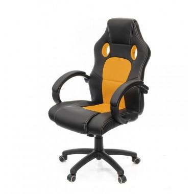 Купить Кресло Анхель • PL TILT чёрно-оранжевый - цена и отзывы
