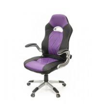 Купить недорого Геймерские кресла - Кресло Форсаж 8 • PL GTR TILT чёрно-фиолетовый в Украине