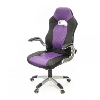Купить Кресло Форсаж 8 • PL GTR TILT чёрно-фиолетовый - цена и отзывы