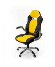 Купить недорого Геймерские кресла - Кресло Форсаж 8 • PL GTR TILT чёрно-жёлтый в Украине