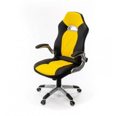 Купить Кресло Форсаж 8 • PL GTR TILT чёрно-жёлтый - цена и отзывы