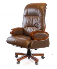 Купить недорого Кресло руководителя люкс - Кресло ЭДИСОН • EX RL браун в Украине