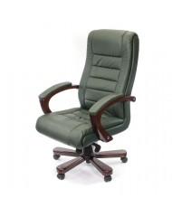 Купить недорого Кресло руководителя люкс - Кресло Гаспар • ЕХ МВ зелёный в Украине