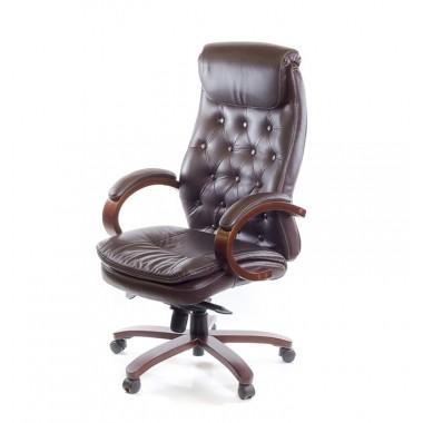 Купить Кресло ЛАЦИО • ЕХ MB кожа коричневый - цена и отзывы