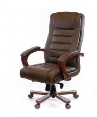 Купить недорого Кресло руководителя люкс - Кресло Гаспар • ЕХ МB коричневый в Украине
