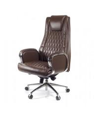 Купить недорого Кресло руководителя люкс - Кресло Арминг • CH SR коричневый в Украине