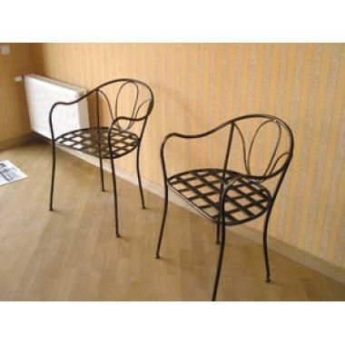 Купить Кованый стул со спинкой мод. КСС6 - цена и отзывы