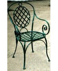 Купить недорого Кованые стулья - Кованый стул со спинкой мод. КСС7 в Украине