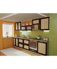 Купить недорого Кухня Адэль темная - Кухня Адель Венге (3200х600х2132) в Украине