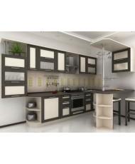 Купить недорого Кухня Адэль темная - Кухня Адель Венге (3500х600х2132) в Украине