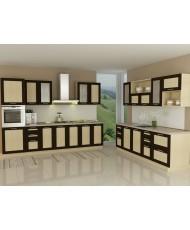 Купить недорого Кухня Адэль темная - Кухня Адель Венге (5600х600х2132) в Украине