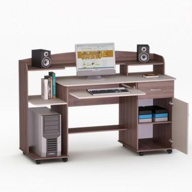 Купить Компьютерный стол - LED 9 Орех Лесной  - цена и отзывы